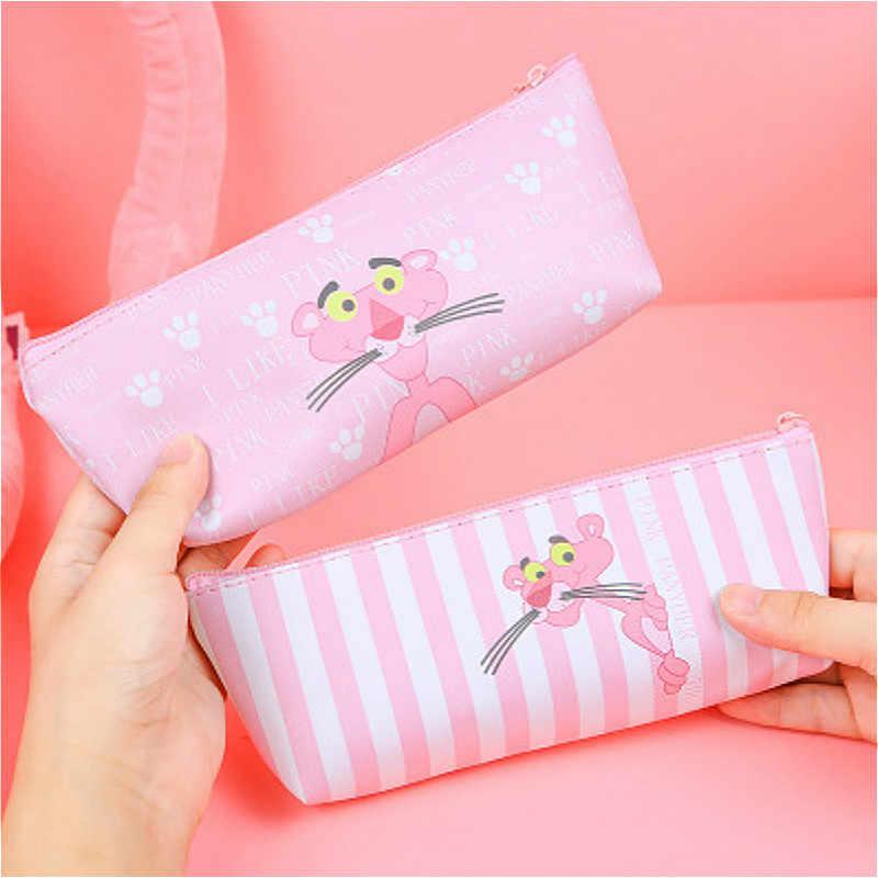 1 sztuk/sprzedaży Kawaii piórnik Halloween płótno śliczne różowa pantera wzór szkolne szkolne materiały papiernicze prezent na boże narodzenie