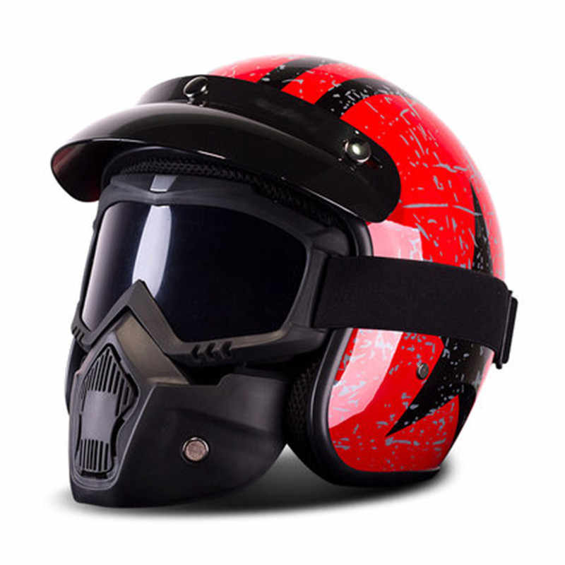 5a80a2b6c75c8 Modular Motorcycle Helmet with Removable goggle mask Racing Motorcycle  Helmet Casco Capacete Moto Casque DOT