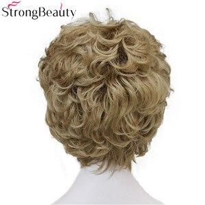 Image 3 - StrongBeauty искусственные синтетические волосы, женские короткие вьющиеся парики для женщин, много цветов на выбор