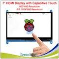 7,0 pulgadas 800*480*1024*600 IPS capacitiva Panel táctil TFT LCD Módulo de pantalla para Raspberry Pi 3 B +
