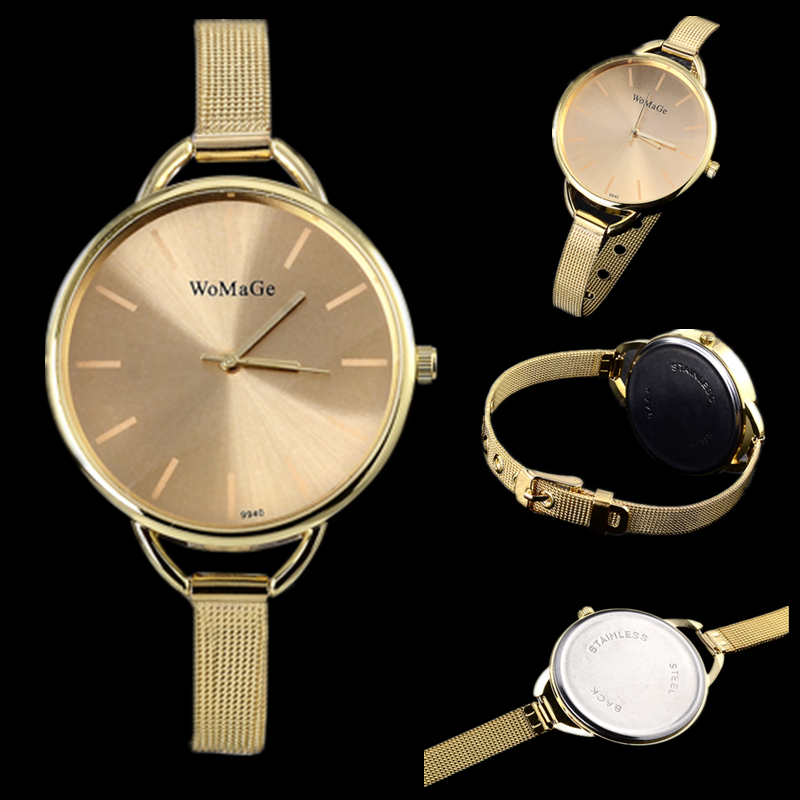Men's Watches Watches Smart Hot Sale Brand Brand Luxury Women Watches Gold Mesh Arabic Numbers Watch Women Dress Stainless Steel Quartz Casual Wristwatches