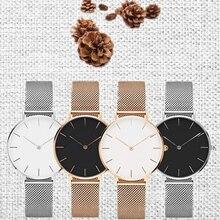Простой Черный Кварцевые часы Женские наручные часы бизнес большой циферблат лучший бренд Роскошные famale спортивные часы Регулируемая Девушка часы 2018