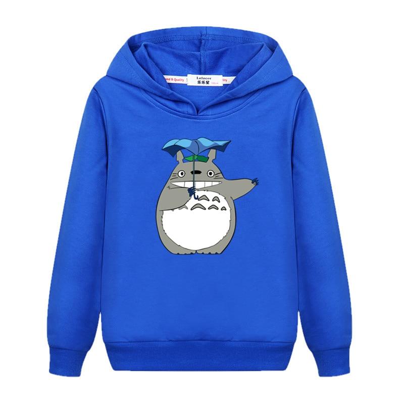 Girl's totoro Casual Sweatshirt Long Sleeve Fall Winter Hoodie Kids Fashion Cartoon pullover New Cotton Coat 5