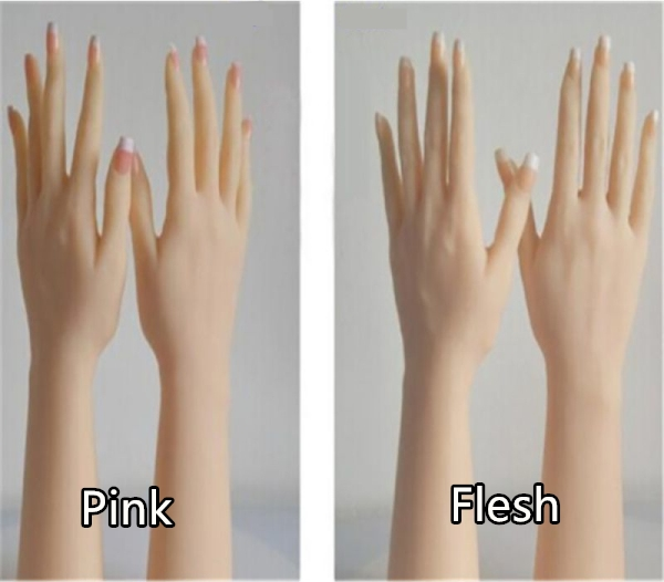 finger nail color options for sex doll