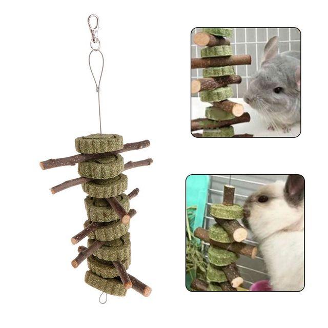 Любимая игрушка Apple ветка скрежетание зубами травы естественный хомяк, кролик Шиншилла зверек поставок подвесная клетка