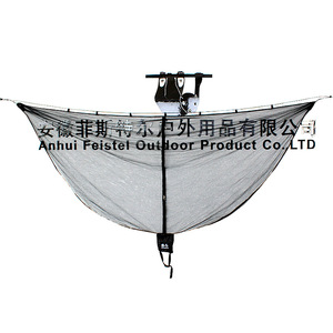 Image 2 - Detachable hammock mosquito net portable outdoor Survival nylon encryption mesh double person camping light weight hammock swing