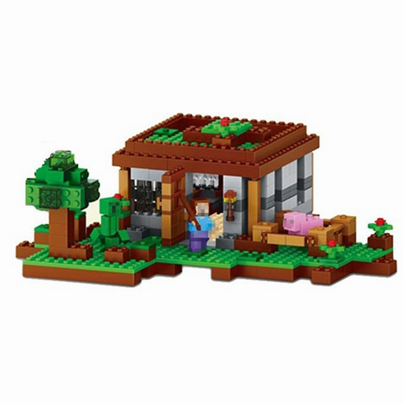 Toys & Hobbies Shop For Cheap Lele 79045 Minecraft Series The First Night Legoing Minecraft 21115 Building Blocks Steve Pig Toys For Children With Legoings To Adopt Advanced Technology