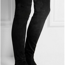2016 Fashion Designer suede leather thigh high boots women stretch over the knee