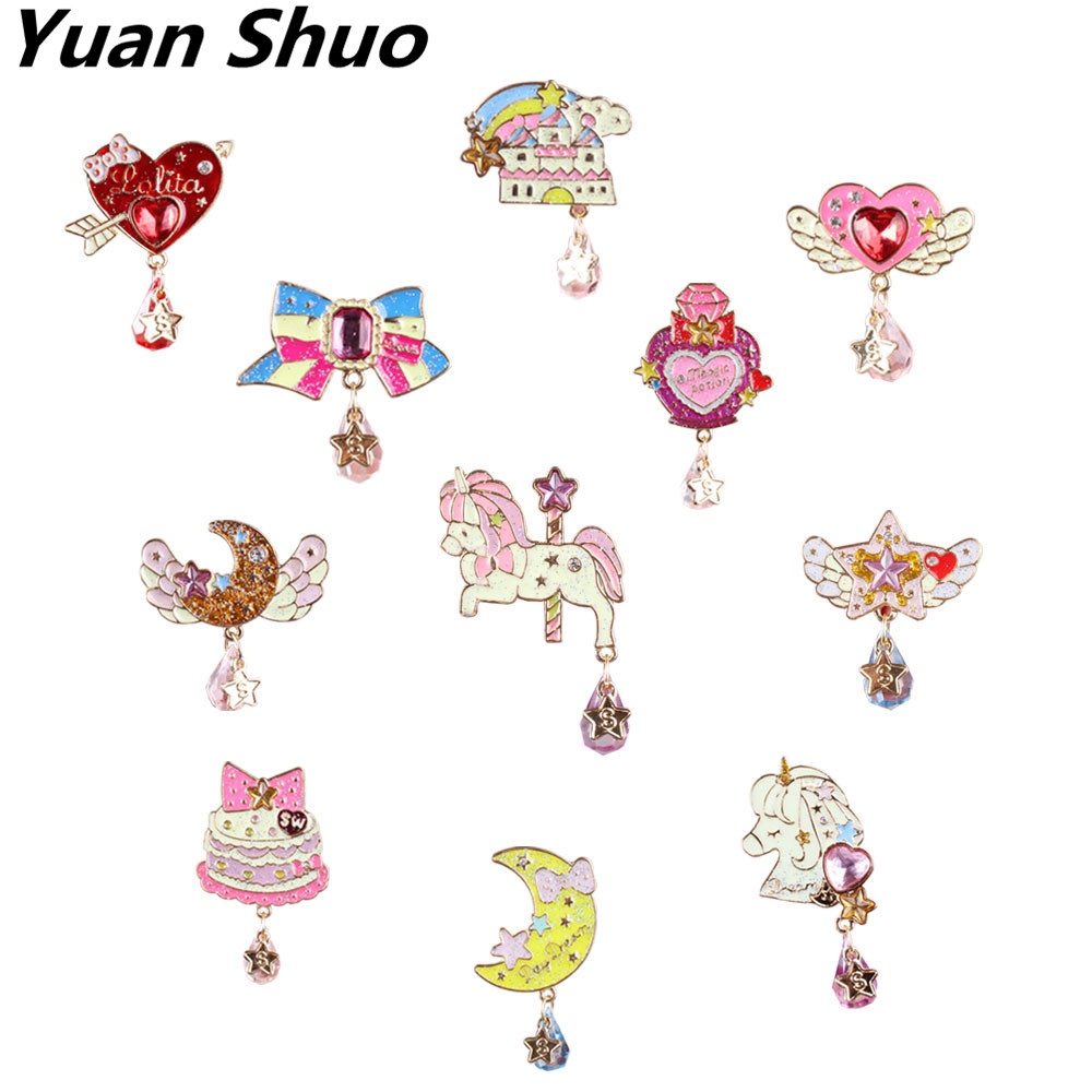 Japanese anime series lovely drops the five-star enamel women brooch 2016 fashion badges Brooch wholesale and direct sales