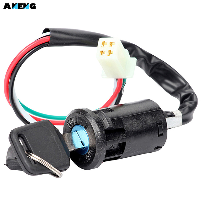 ANENG New High Quality 4 Wires Off road Motorcycle Starter Ignition ...