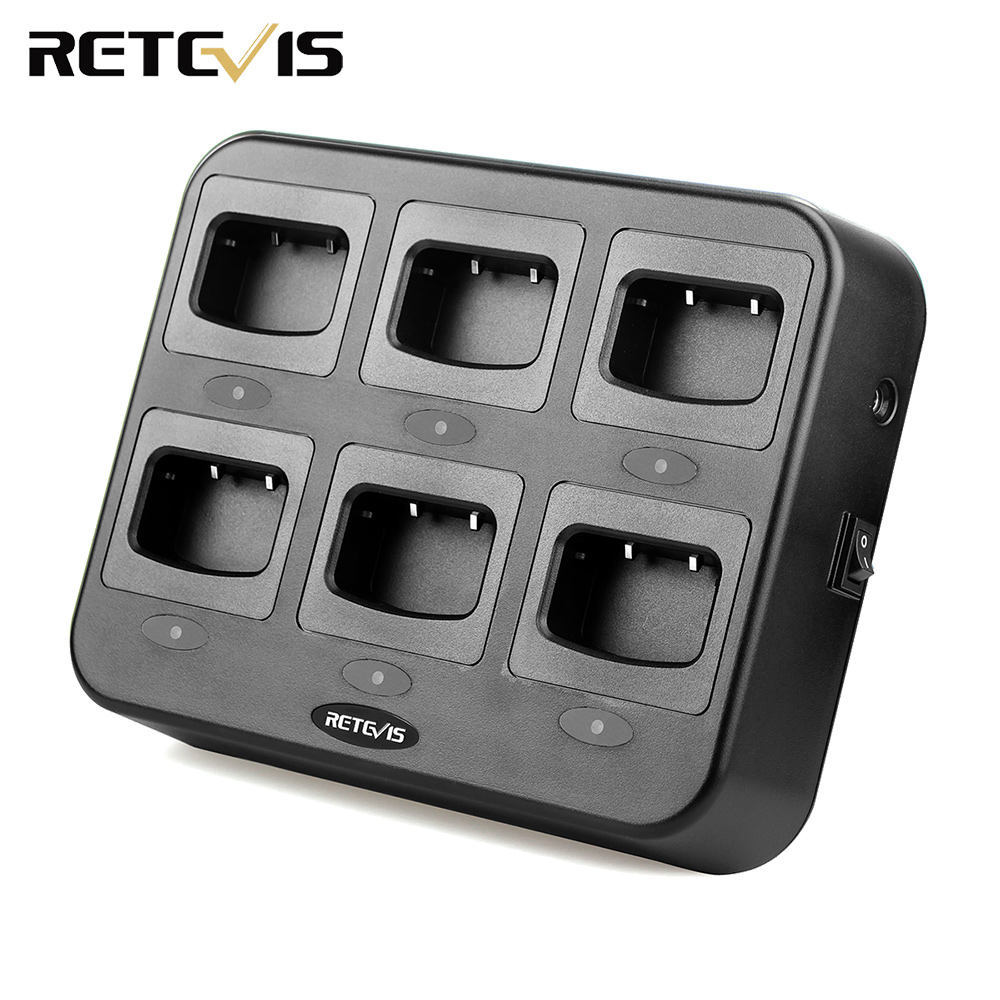 Retevis RTC777 Six Way Charger for Retevis H777 Baofeng 888S BF 888S Two Way Radio Walkie