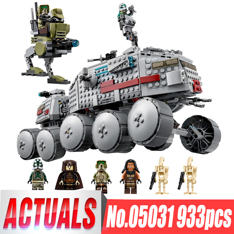 933Pcs LEPIN 05031 The Star Series Clone Turbo Tank Wars Building Blocks Compatible Legoinglys 75151 Boys Birthday Kids Gifts lepin 05031 star series war 933pcs clone set turbo model tank 75151 building blocks compatible with boys toys birthday gift