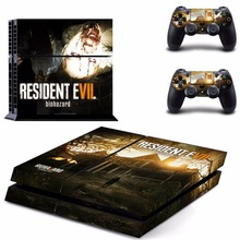 Resident Evil 7 : Biohazard Decal ps4 Skin Sticker For Sony Playstation 4 PS4 Console +2Pcs Controller