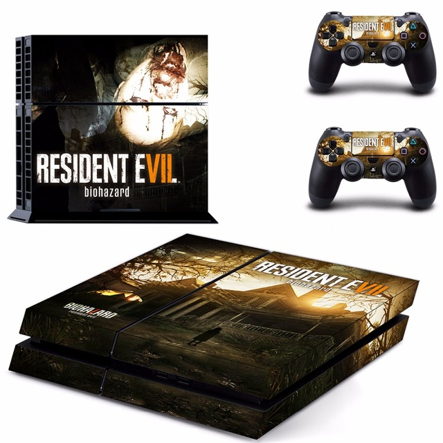 Resident Evil 7 Biohazard Decal Ps4 Skin Sticker For Sony Playstation 4 Ps4 Console 2pcs Controller Consoleskins Co