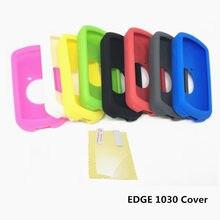 Borda para ciclismo ao ar livre, capa protetora para garmin edge 1030 para computador de borracha silicone + película protetora de tela lcd para garmin edge 1030