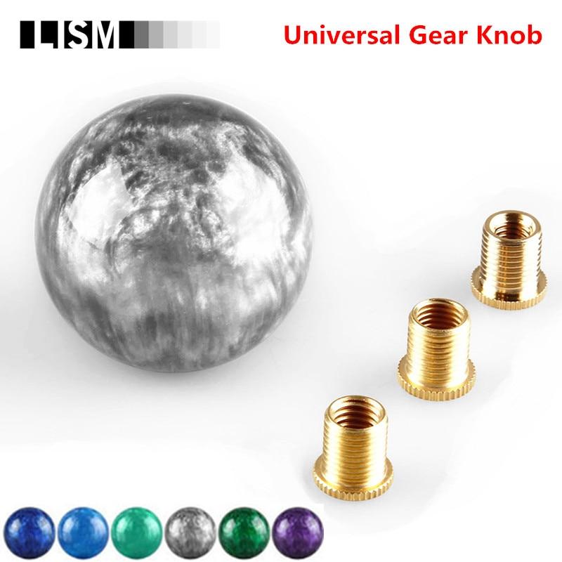 цена на Universal MT Manual Gear Shift Knob Gearshift Shifter Stick Lever Headball Pen POMO MOMO for Volkswagen VW Golf for KIA for Opel