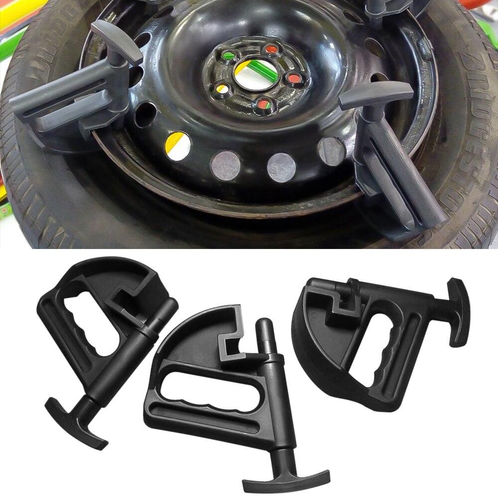3 PCS 3pcs Universal Tyre Changer Nylon Bead Clamp Drop Center Depressor Clamp Tool Rim Pry Tire Changer Wheel Changing Helper