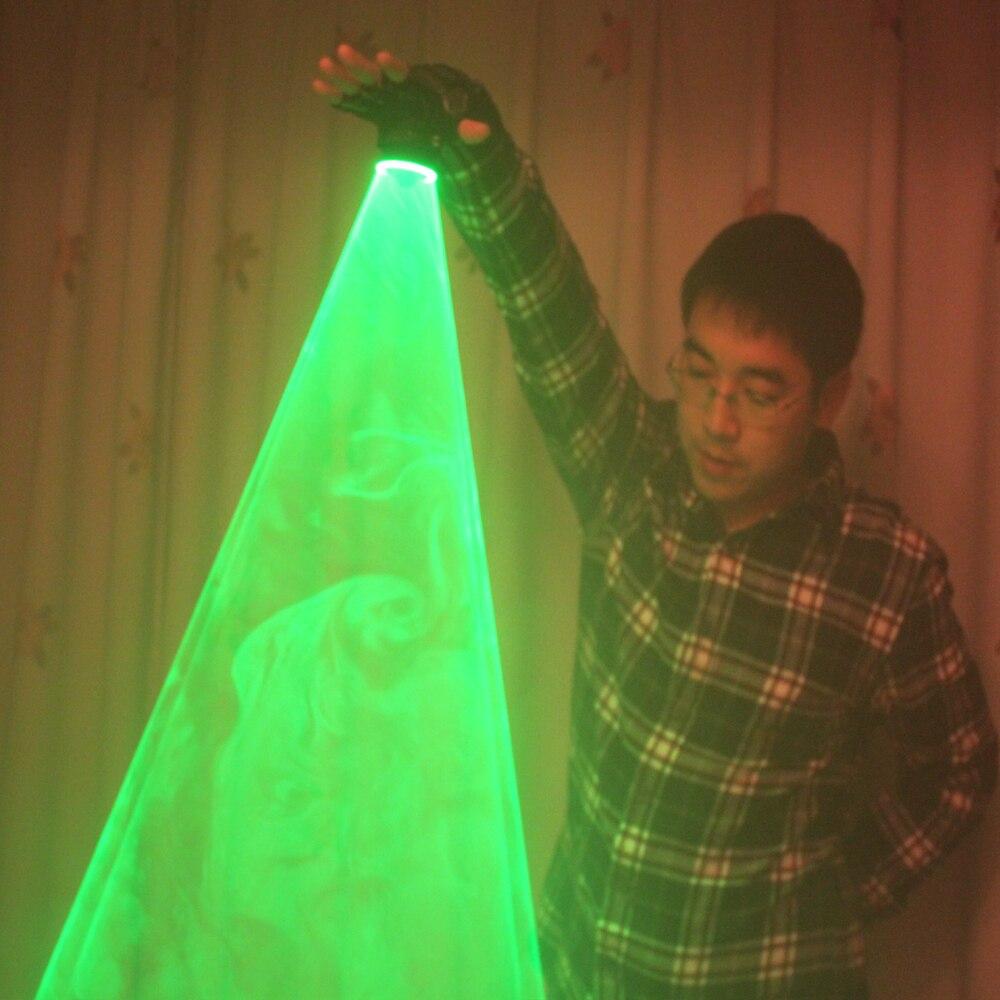 Verde frete Grátis Laser Turbilhão Canhão Laser Portátil Para DJ Clube de Dança Luvas de Lasers Rotativos Luz Pub Festa Show de Laser
