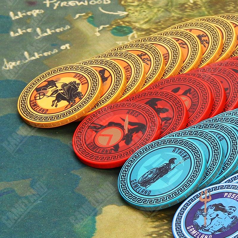 10pcs Poker Chips Set Ancient Greece God Ceram Texas HoldEm Zeus Ares Apollo Athena Poseidon Aphrodite Poker Chips 40*3mm 10g