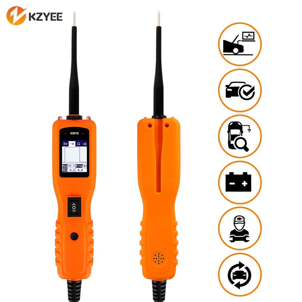 KZYEE KM10 12 V testeur de batterie sonde de puissance court-Circuit testeur de Circuit de voiture balayage de puissance 24 V Circuit ouvert outil de Diagnostic de tension