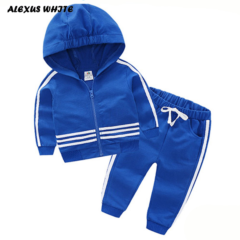 Boy Girl Sports Suit Kids 2018 Spring Sport Suits Boys Clothing Children Girls Tracksuit Sweatshirt Pants Casual Clothes Sets kimocat boy and girl high quality spring autumn children s cowboy suit version of the big boy cherry embroidery jeans two suits