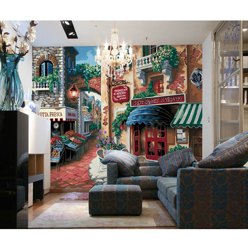 Custom Photo Wallpaper 3D Living Room Garden Style Background Wall Hotel Cafe Sofa Bedroom Painting