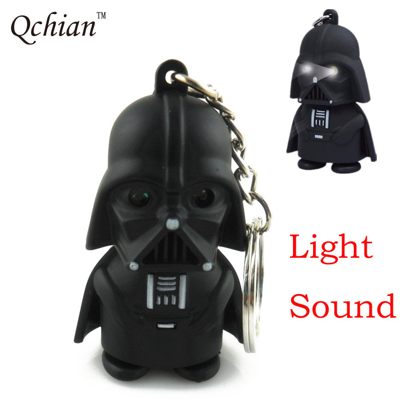Key Chain Led Light Sound Keychain Storm Trooper llaveros Key Holder Darth Vader Yoda Anakin Skywalker Action Figure