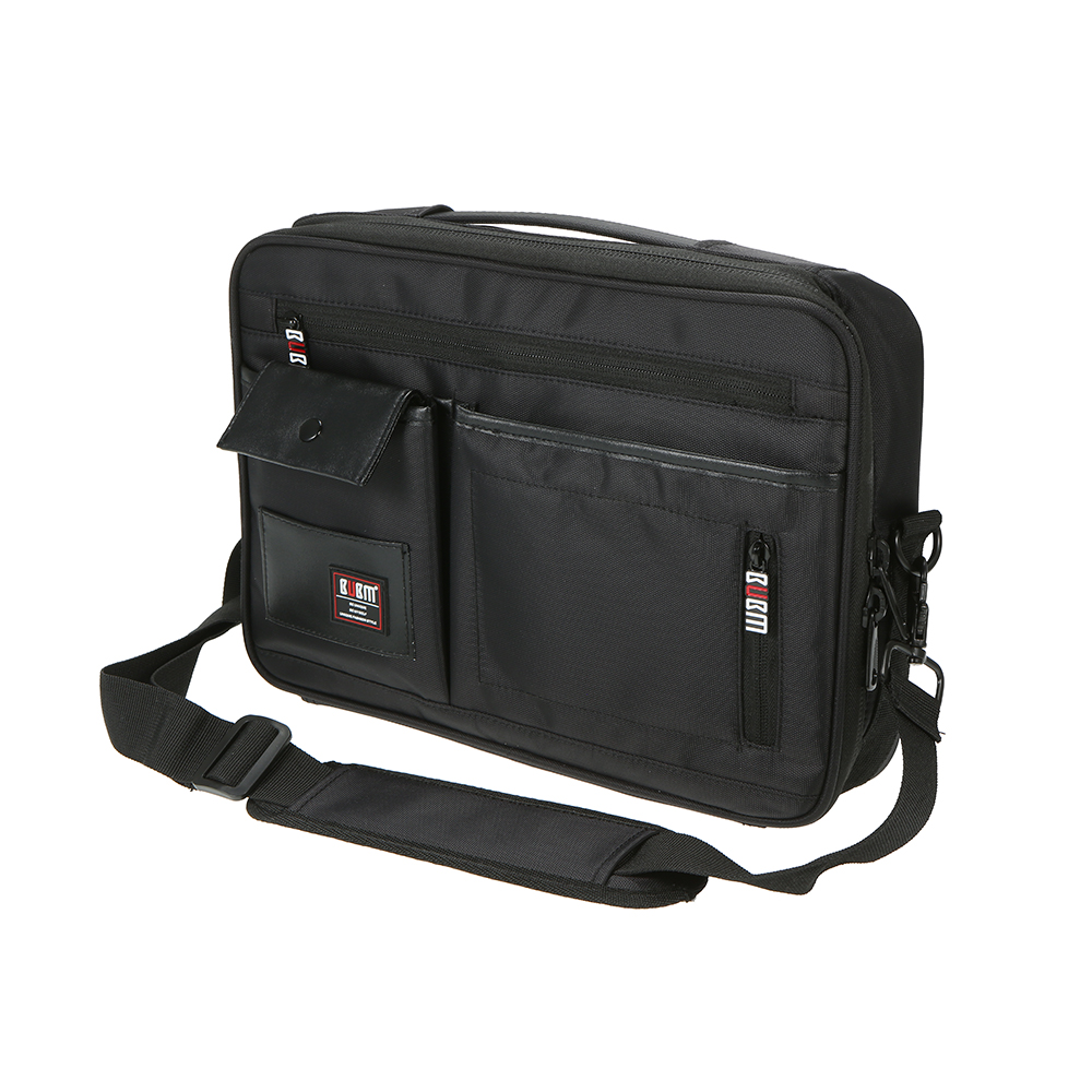 BUBM Carrying Case with Handle Protective Travel Case Shell Pouch for Nintendo Switch Games Console and Accessories (Black)