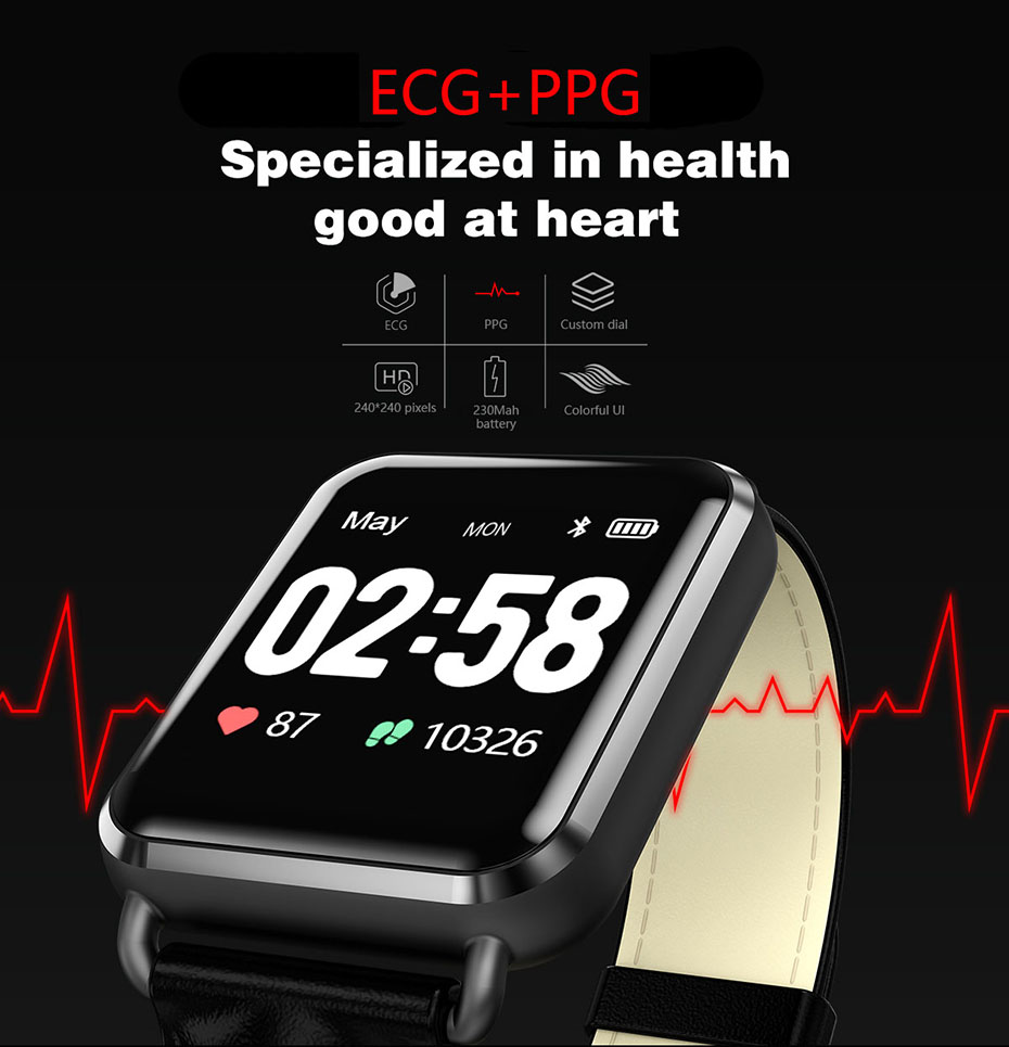 COLMI ECG Smartwatch Electrocardiography Heart Rate Monitor Smart Watch Activity Fitness Tracker Clock for IOS Android_01