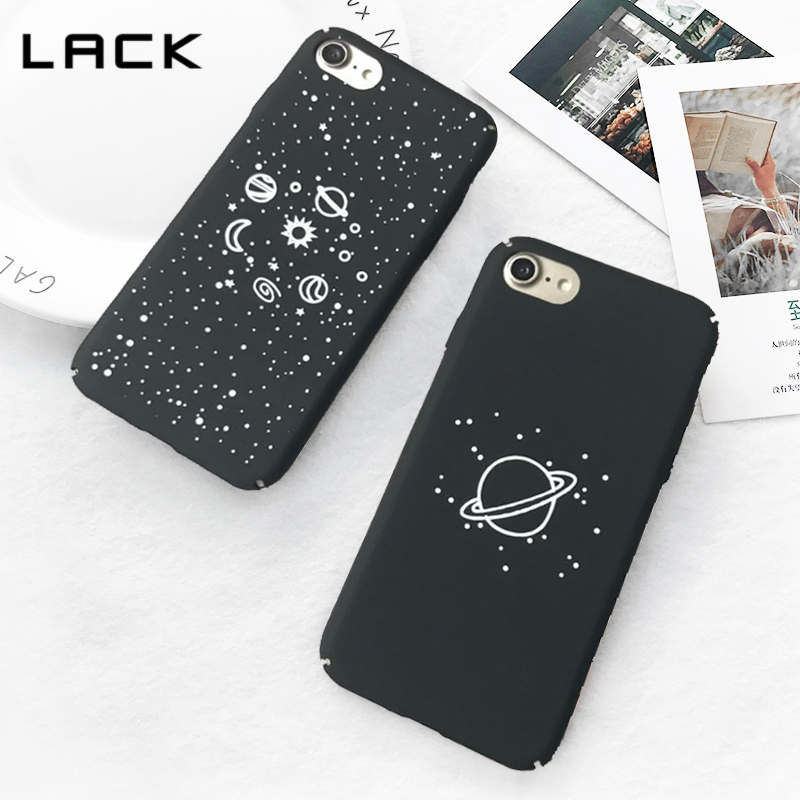 LACK Eclipse Moon Phone Case For iphone X Case For iphone 7 8 6S Plus Cool Cartoon Airship Stars Planet Moon Sun Universe Cover