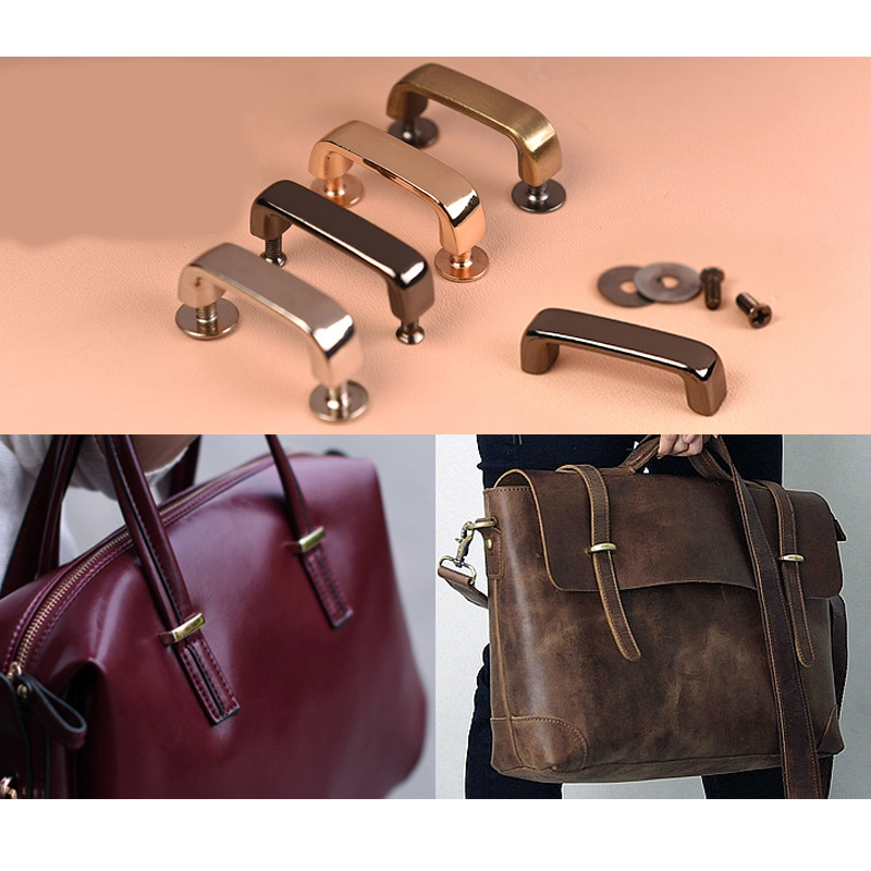 10pcs DIY arch bridge locking plate locking hand-made leather bag and suitcase  accessories replacements leather buckle