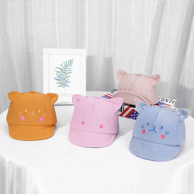 Baby Toddler Infant Girls Cotton Mesh Cap Summer Baseball Sun Hat For 3-24Months