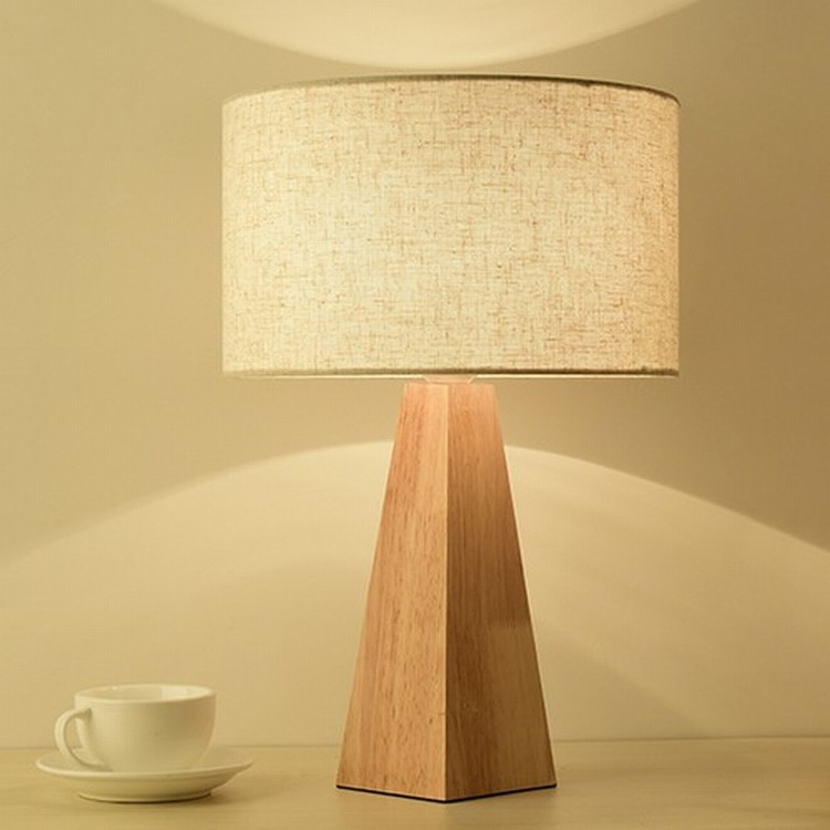 Wooden Table Lamp With Fabric Lampshade Wood Bedside Desk lights Modern Book Lamps E27 110V 220V Reading Lighting Fixture wooden table lamp with fabric lampshade wood bedside desk lights modern book lamps e27 110v 220v reading lighting fixture