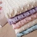 27 Cores Ultrasoft Minky Tecido 1 Metro Bolha Material de Costura de Poliéster Micro Mink Cobertor Da Cama Colchão Almofada Tpa