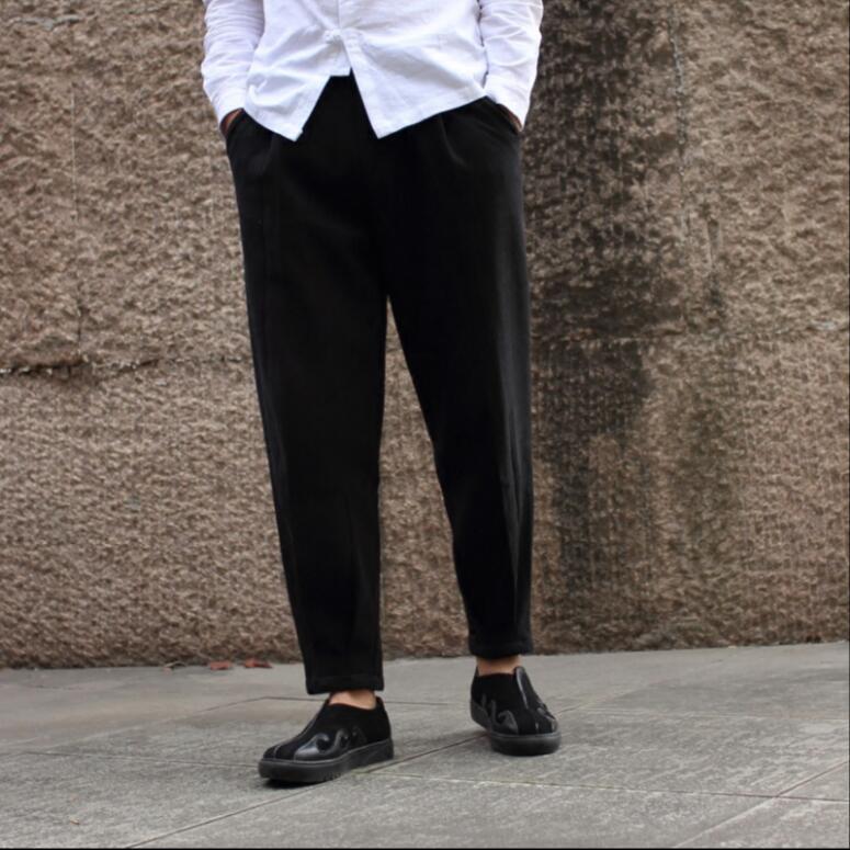gris Vêtements Lin Haren Hommes L'hiver 2018 Avec M Nouveau Pantalon Beige Épaissie Costumes Lâche ~ black Cachemire 3xl De Coton Casual X6RqwfSn
