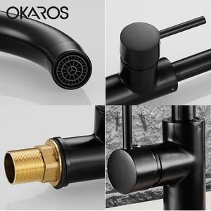 Image 4 - OKAROS ก๊อกน้ำห้องครัวทองเหลืองทองเหลืองก๊อกน้ำ 360 องศาหมุนได้อ่างล้างหน้า Vintage Tap Torneira