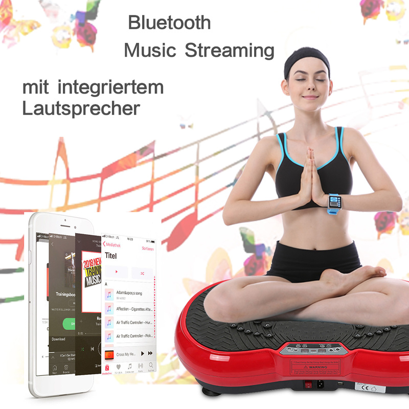 лучшая цена Vibration fitness massager weight loss fat burning muscle exercise equipment LCD magnetic therapy with Bluetooth audio cable HWC