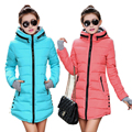 2017 Women Winter Jacket Slim Thicken Warm Parka female plus size cotton Winter Coat Women Fashion new multicolor outerwear
