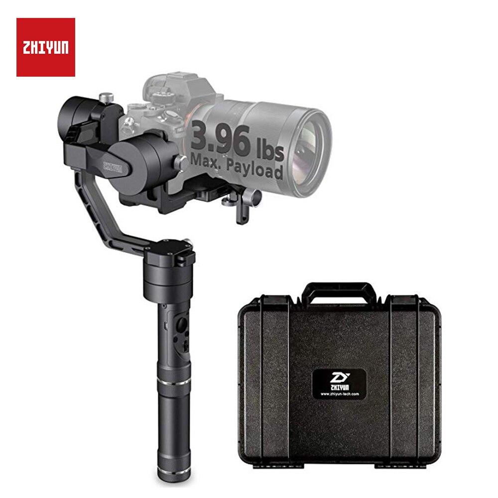 Zhiyun 3 eixos estabilizador para câmera, guindaste v2 cardan 360 graus panorâmica tiros para dslr acessórios handheld selfie vara