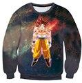Clássico japão Anime Dragon Ball Z Camisola de Manga Longa Outerwear Camisola Dos Homens Hipster 3D Super Saiyan Goku Crewneck Pullover