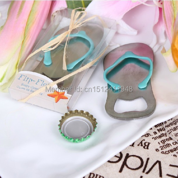 new creative novelty items flip flops bottle opener wedding favorsgift packaginggiveaways for guest 10pcs lot