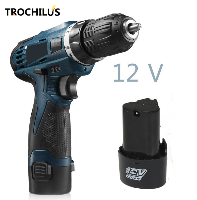 High quality 12V cordless electric screwdriver Multifunctional power tool Mini screwdriver with lithium battery * 2 high quality power tool 25v cordless