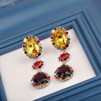 2019 New Hot Earring Jewelry good quality Crystal Multicolor Special Bohemia Big long Earrings for Women
