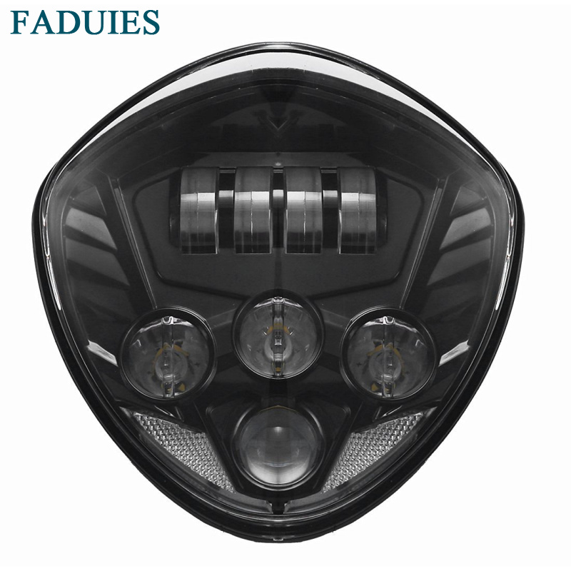 FADUIES Motorcycle Led Headlight Kit For Victory Motorcycles Cross Country 8-Ball , Vegas, Hammer , Judge ,Boardwalk Etc daymaker light motorcycle led headlight kit cross country led headlights for victory motorcycles