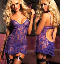 Sexy Lingerie Lace Sexy Costumes M L XL XXL XXL 4XL 5XL 6XL Erotic Sexy Pajama Sets Sleepwear Women Large Plus Size Lingerie cheap lilysa Spandex Polyester Baby Dolls Exotic Apparel ymsyPH-7007 Floral