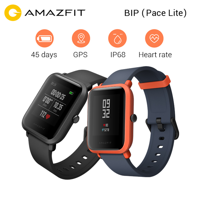 """Xiao Mi Хуа Mi Amazfit Bip бит темп Lite Молодежный Смарт-часы Ми Fit 1.28 """"Экран 32 г ультра -светло-IP68 Водонепроницаемый ГЛОНАСС + GPS часы"""