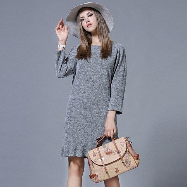 Europäischen stil Kleid herbst und winter neue lose dünne fishtail ...