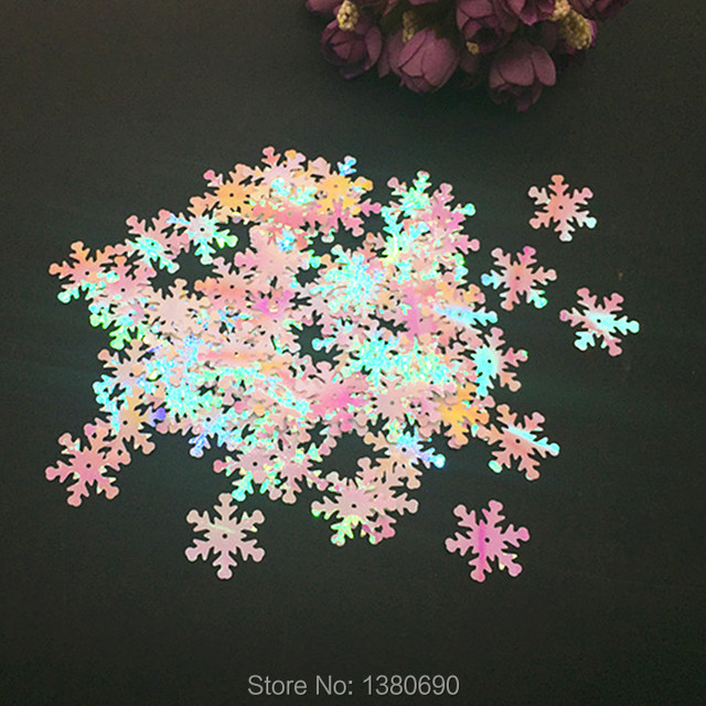 30G Pack 15mm DIY Glitter Paper Snowflake Wedding Confetti Table Party Punches Decoration Sprinkle