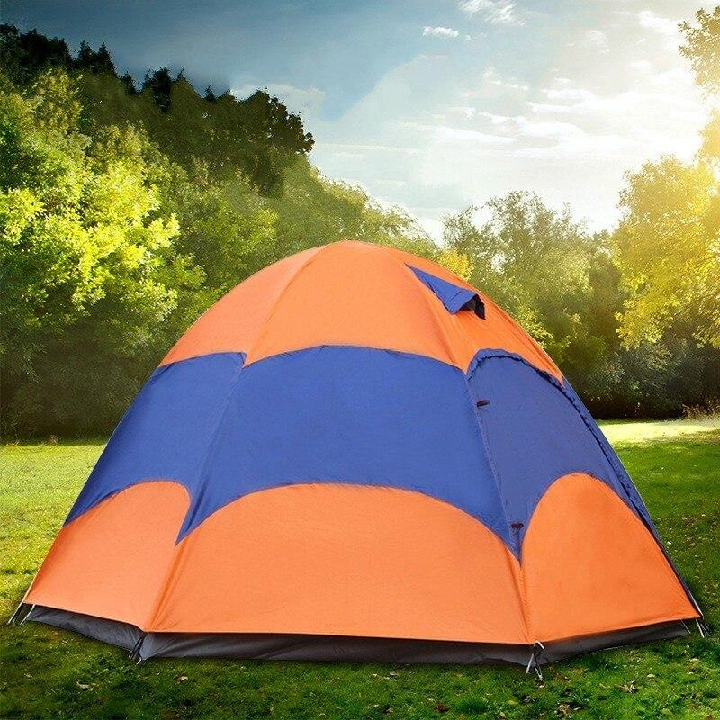Tente extérieure 5-8 personne Double couche tente de yourte mongole avec moustiquaire imperméable Camping pliant pêche tente de plage d'été