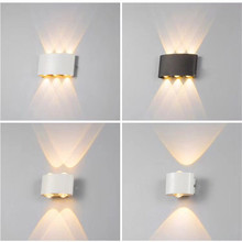 Kenlux 2W 4W 6W 8W led Wall lights Aluminum Up and Down Waterproof Indoor bedroom Outdoor Garden Lamp porch light WW/WH